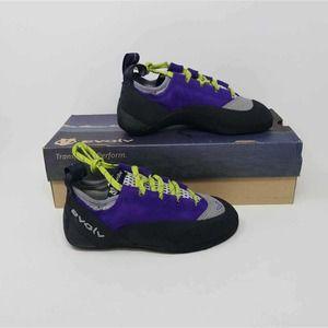 NWB Evolv Girls Nikita Climbing Shoes Purple 6 M